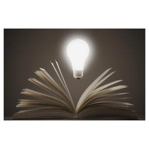 book and lightbulb